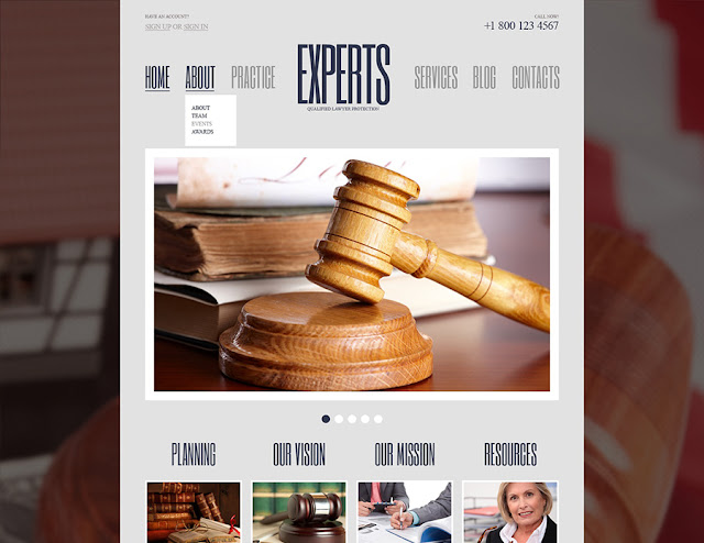 Free WordPress Theme - Law