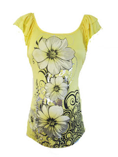 Bright Yellow Foil Flower Top