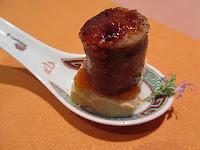 Menu de Año Nuevo 2011.pan con tomate y butifarra caramelizada
