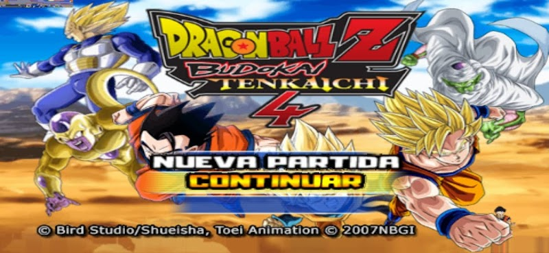 Android PPSSPP Game DBZ TTT MOD BT4 ISO With Permanent Menu