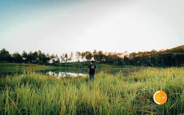 Suasana pagi di danai situ cipiit sukabumi jampang tengah