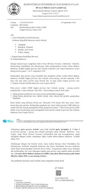 hasil seleksi ldbi sma tingkat provinsi dan siln wilayah luar negeri tahun 2020 pdf tomatalikuang.com