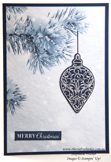 #thecraftythinker #stampinup #cardmaking #christmascard #feelslikefrost #christmasgleaming , Feels Like Frost SDSP, Christmas cards, Stampin' Up Demonstrator Stephanie Fischer, Sydney NSW