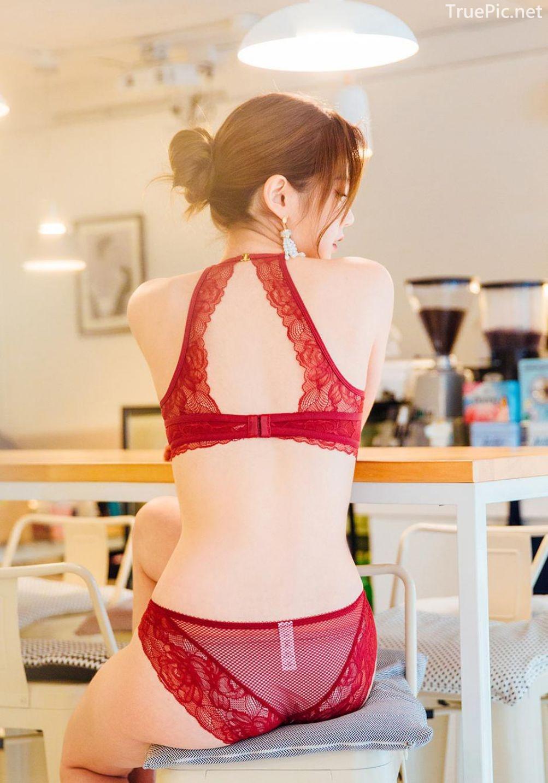 Korean Lingerie Queen - Lee Chae Eun - Red and Black Rabbit Lingerie - TruePic.net - Picture 3