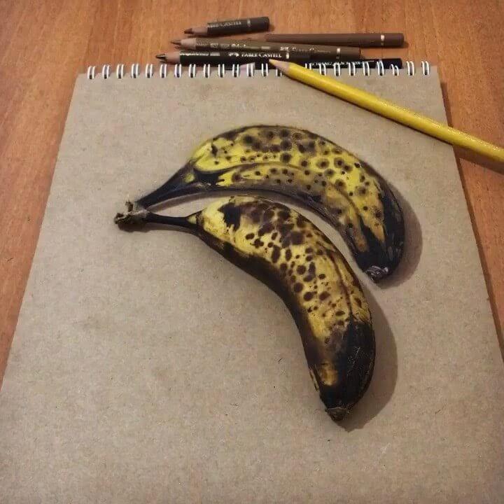 17-Bananas-Elif-Nihan-Sahin-3D-Drawing-www-designstack-co