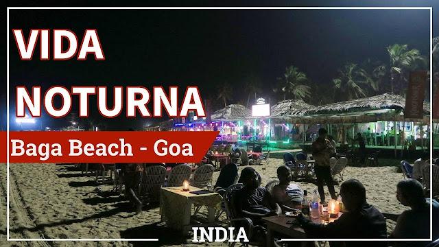 Vida noturna em Goa na Índia