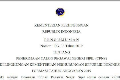 Contoh Surat Lamaran CPNS Kementerian Perhubungan 2019