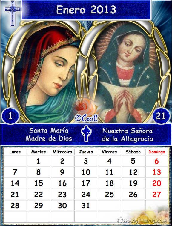 Calendario Mariano.Vidas Santas Calendario Mariano 2013