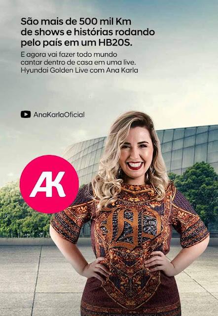 Ana Karla comemora 500 mil km rodados em HB20 em live