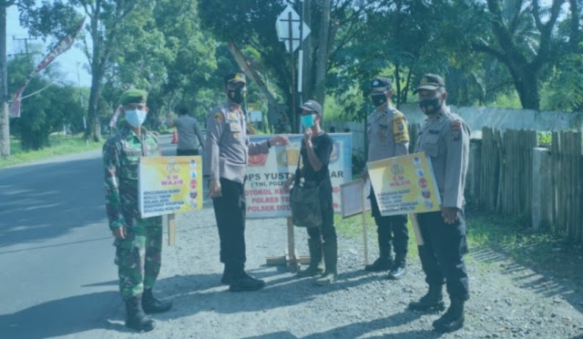 Gerakan Ops Yustisi di Dolok Merawan Senantiasa Arahkan Warga Patuhi Prokes