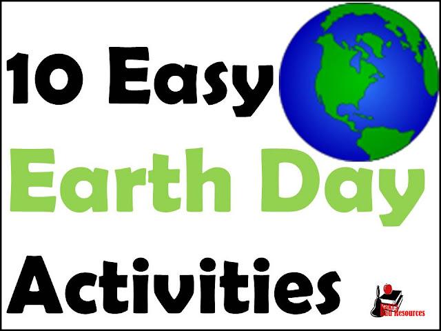 Ten easy earth day activities from Raki's Rad Resources