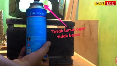 Cara Mudah Isi Ulang Gas Kaleng dengan Peralatan Sederhana