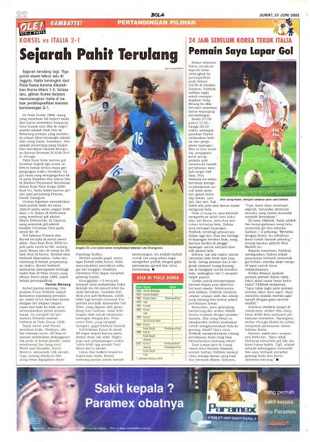 KORSEL VS ITALIA 2-1 SEJARAH PAHIT TERULANG