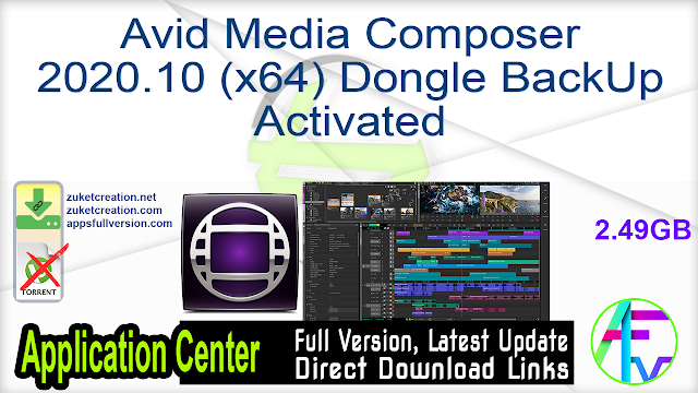 Avid Media Composer 2020.10 (x64) Dongle BackUp Activated