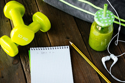 fitness plan notebook