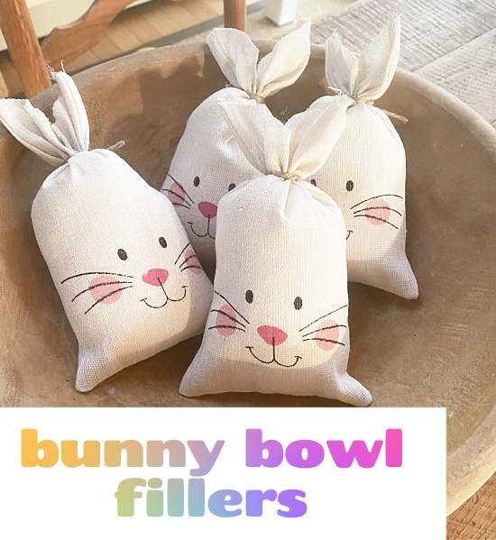 bunny pillows with Pinterest overlay