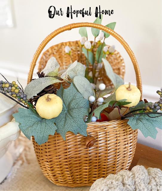 pumpkins Nantucket basket fall florals