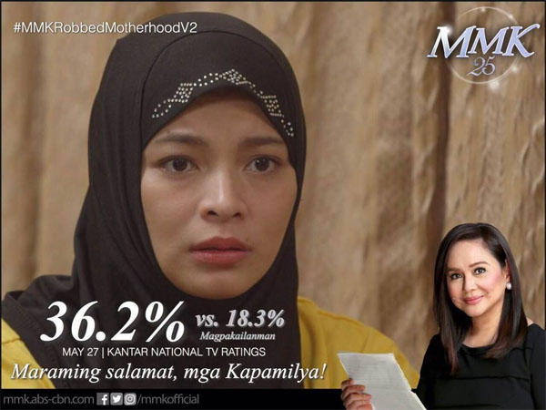 Angel Locsin's return registers highest tv rating for MMK this year
