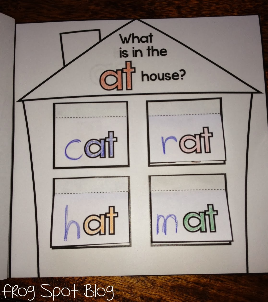 Word Family Flip Flap Houses