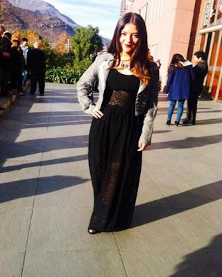vestido formal largo negro tumblr de moda