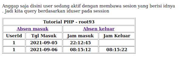 Tutorial PHP Supaya User Hanya Bisa Input Sekali Dalam Sehari