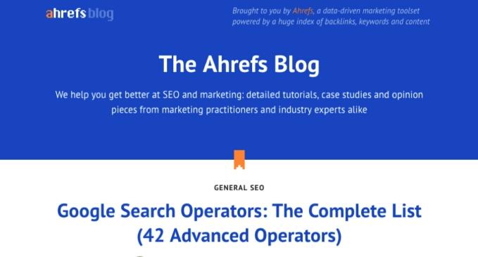 Ahrefs SEO Learning Blog