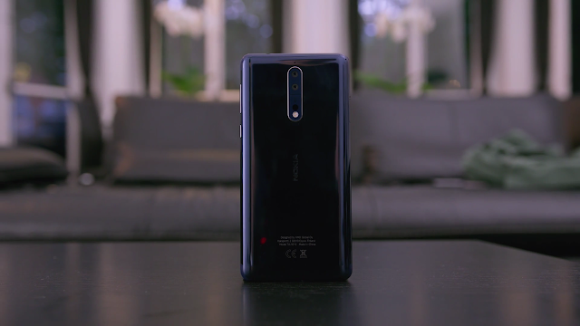 Nokia 8 Polished Blue Back