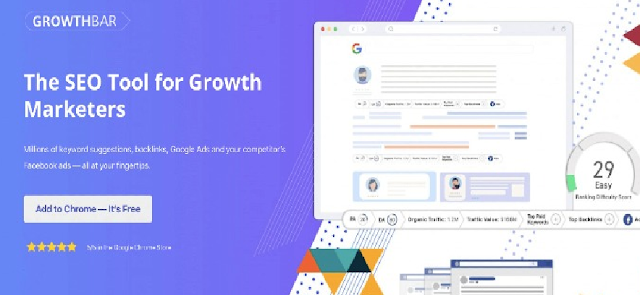 Growth bar 17 Top Best Google Chrome Extensions for SEO