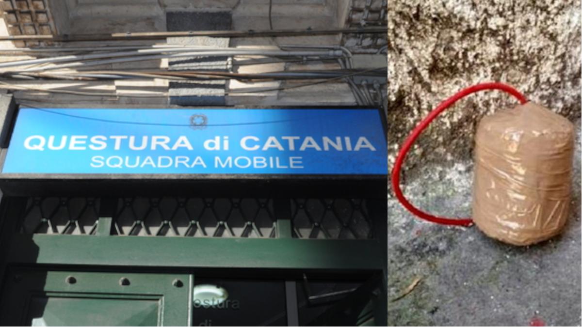 Bombe carta via Vittorio Emanuele Catania Maurizio Zuccaro