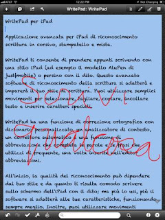 WritePad in Italiano per iPad.