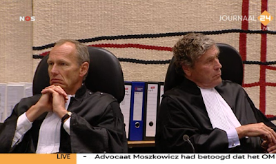 Judges viewing Andrew Bostom on TV