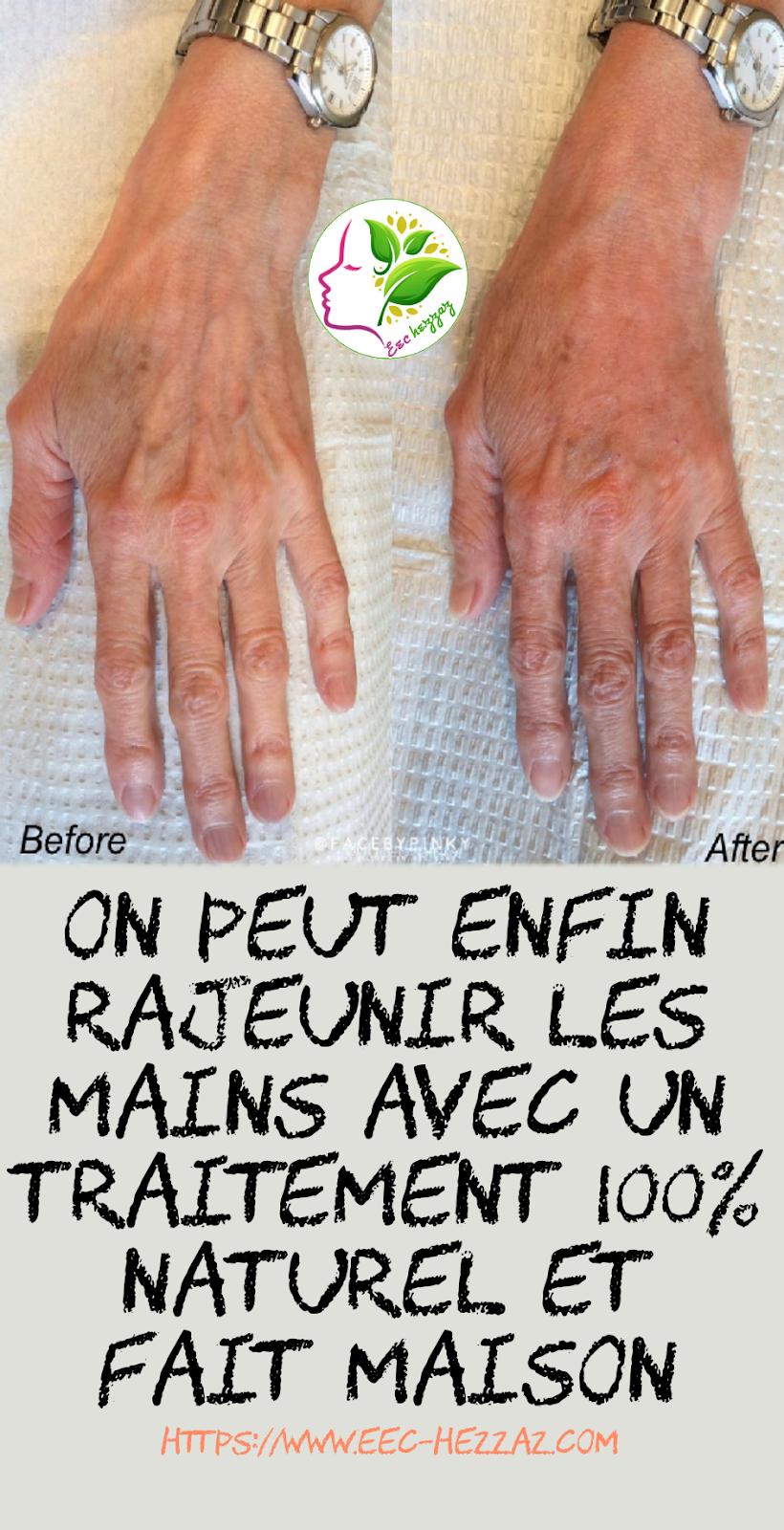 On peut enfin rajeunir les mains avec un traitement 100% naturel et fait maison