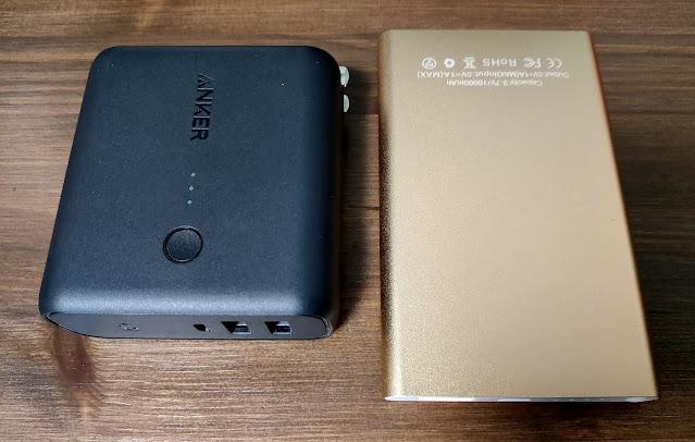 メルカリで購入した激安バッテリーと並べた