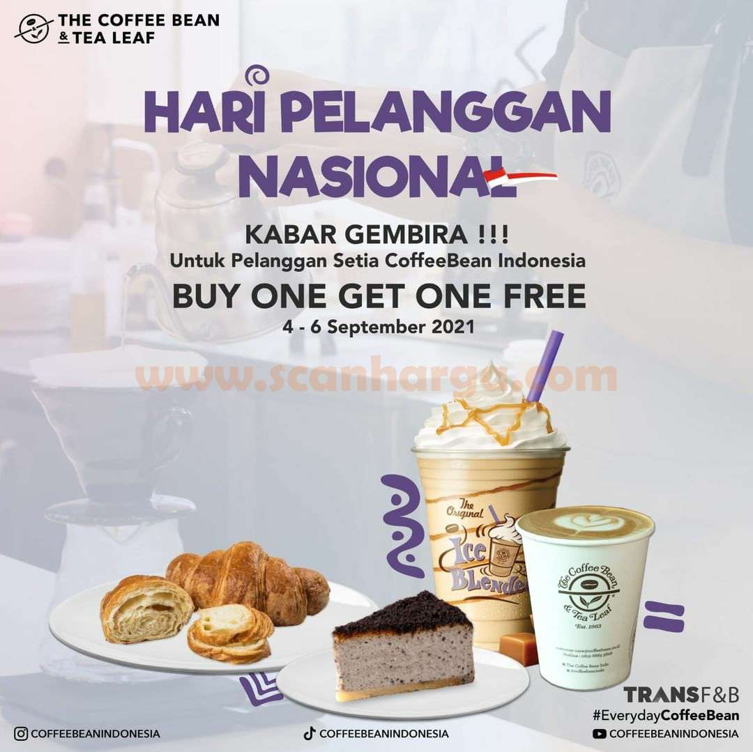 Coffee Bean Promo Hari Pelanggan Nasional - Beli 1 Gratis 1