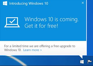 windows 10 upgrade notifikasi