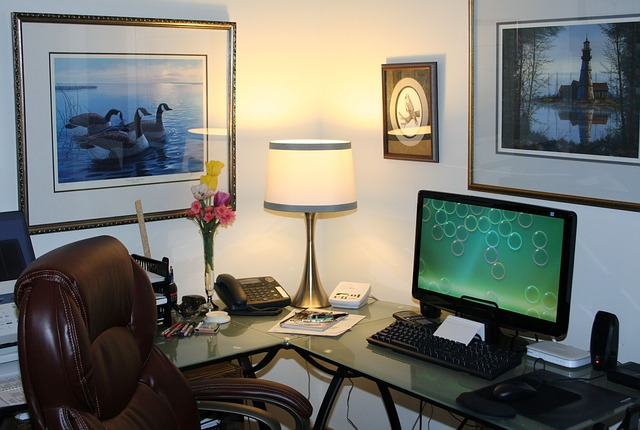office set-up, home office set-up