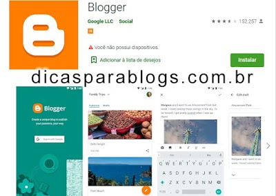 baixar app blogger para android no google play