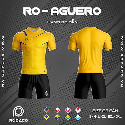 Áo Không Logo Rozaco RO-AGUERO Màu Vàng