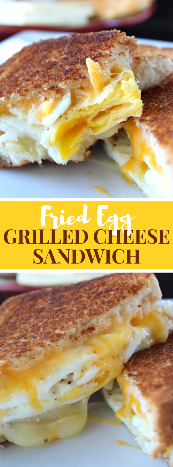 FRIED EGG GRILLED CHEESE SANDWICH #lunch #breakfast