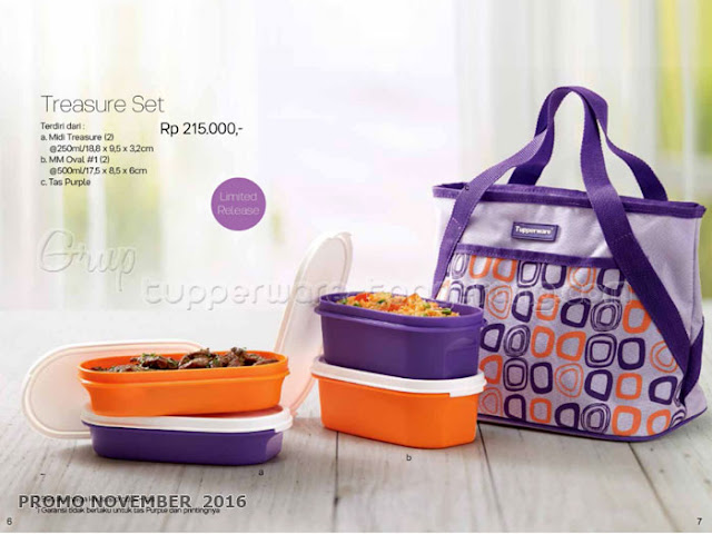 Treasure Set Promo Tupperware November 2016
