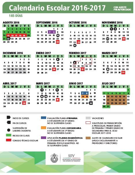 Escolar Papantla: CALENDARIOS ESCOLARES 2016-2017: FORMATOS PARA LA ...