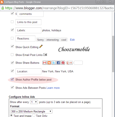 Edit Post configuration in Blogger New 2104