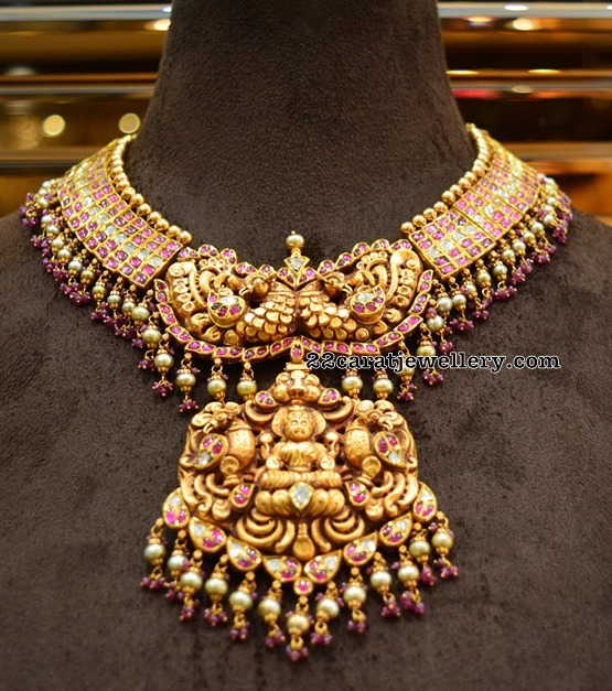 Kundan Lakshmi Peacock Set by Ananth Diamonds