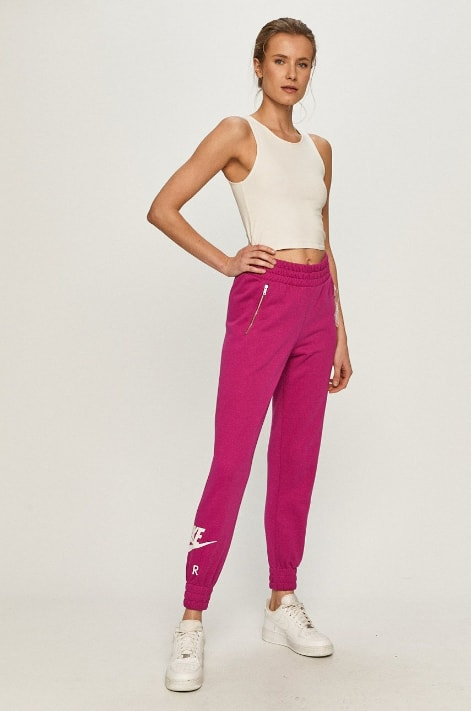 Pantaloni trening de dama roz Nike