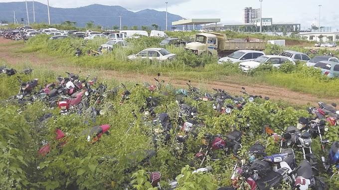 SOBRAL-CE:  Veículos apreendidos ficam abandonados