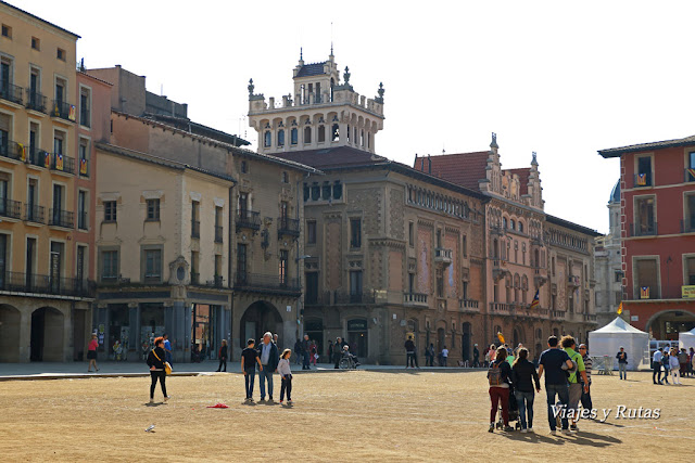 Plaza Mayor, casino de Vic