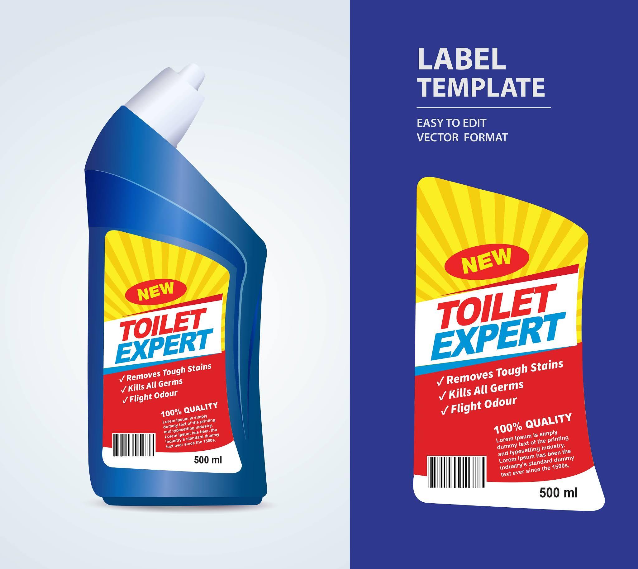 تصميمات منتجات منظفات استيكر منتجات تنظيف بصيغة فيكتور eps