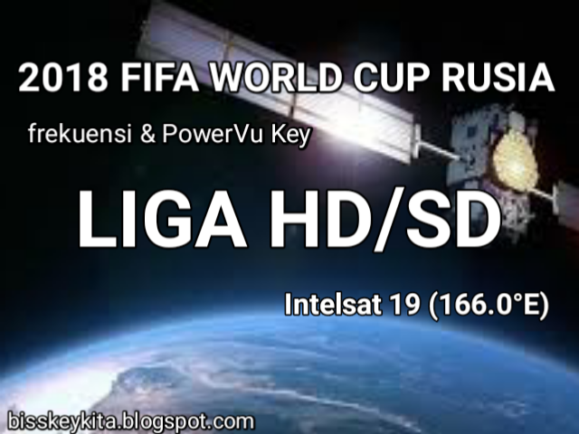 Frekuensi dan PowerVu Key LIGA HD/SD
