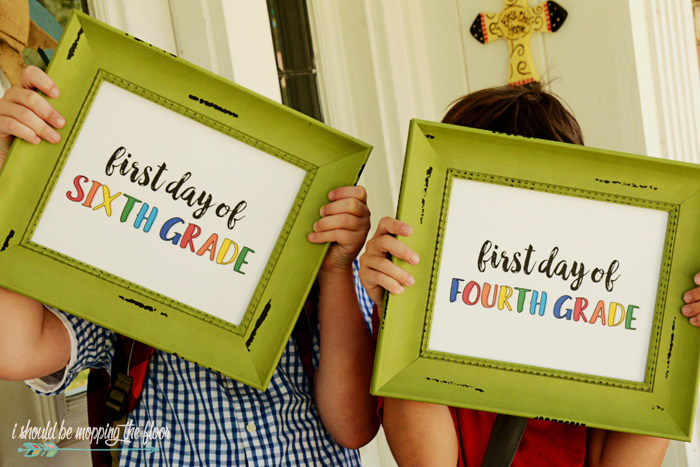 Signs for First Day of School