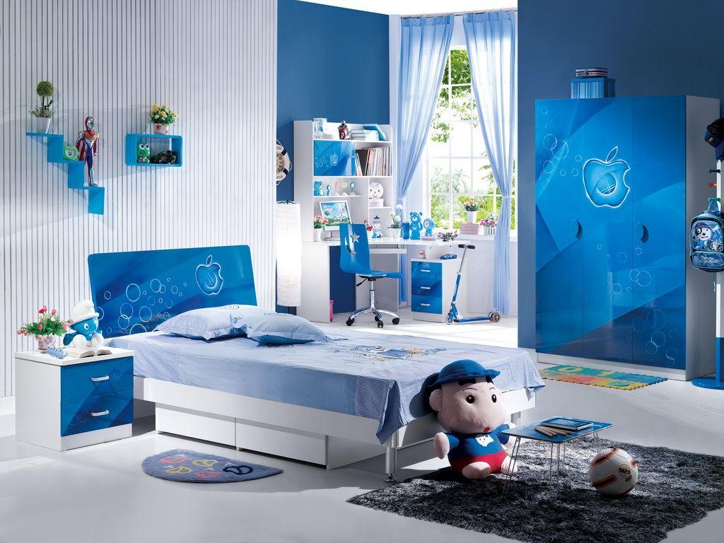 desain kamar tidur serba biru | kumpulan desain rumah